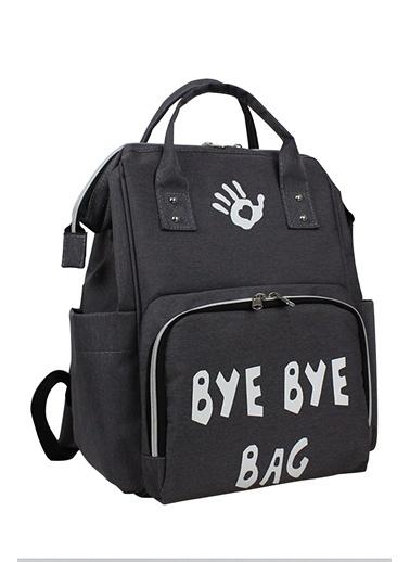 Bye Bye Paris Bag Anne Bebek Bakım Sırt Çantası Gri